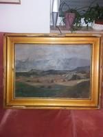 Lenard jelzéssel olaj, vászon, szép, használt keretben, 73x52 falc, 91 cm keret