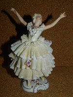 Régi Volkstedt porcelán balerina 17 cm.