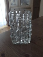 Régi Cseh retró kristály üvegváza