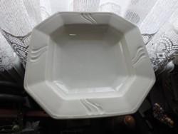 Antik vastagfalú súlyos fehér H & C CHODAU kínáló tál - mélytál