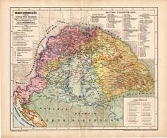 Magyarország a Bécsi béke korában 1606 térkép, kiadva 1898, történelmi atlasz, Kogutowicz Manó