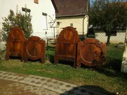 Gyönyörű biedermeier ágyvég 4,3cm vastag 160cm ill.123cm magas:  22500 Ft/db