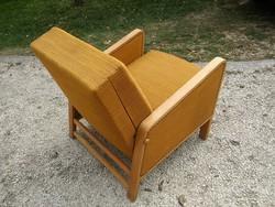 Retro keményfa vázas jópofa fotel / fotelágy