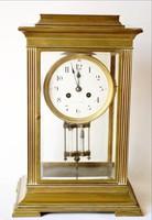 Art decó kandalló óra 45 cm működik csiszolt üveg ajtók elöl hátul