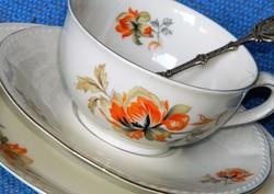 Régi Bavaria Marktleuthen porcelán reggeliző szett