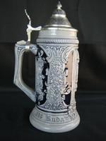 Kerámia sörös korsó BUDA VISSZAVÍVÁSA 1686.