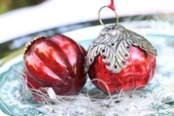 Fém szerelékes karácsonyfadíszek