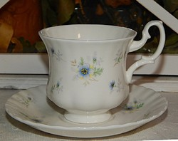 Royal Albert finom kék apró virágos KÁVÉS szett