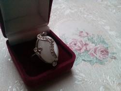 Csodálatos ezüst gyűrű holdkővel