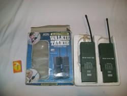 Retro Walkie-talkie eredeti dobozában