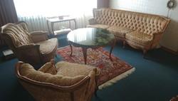 Chippendél barokk  kanapé 200cm es és 2 fotel
