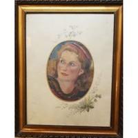 Jakab Károly: fiatal lány portréja