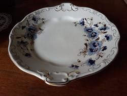 Zsolnai buzavirág mintás sütemény kínáló tál