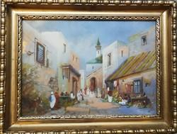 Ismeretlen festő keleti utcarészlet