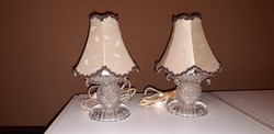 Antik kristaly asztali lampa