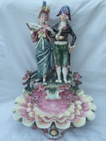 Hatalmas barokk figurális kínáló, XIX.századi darab!