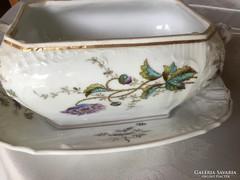 Antik szószos porcelán, PL S, 21 cm hosszú