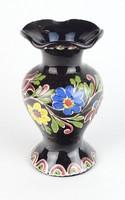 0T425 Régi KIS vásárhelyi kerámia váza 16 cm