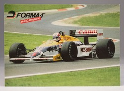 0T416 Nigel Mansell Williams Hungaroring képeslap