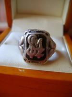 Ezüst nagyméretű pecsétgyűrű