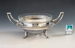 Ezüst  Empire stílusú asztalközép/ kínáló