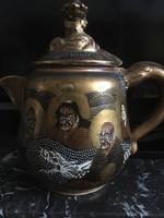 Antik 19. századi Satsuma /Meiji kori teáskanna
