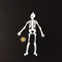 Retró trafikáru csontváz kulcstartó