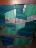 Modern művészeti alkotás 90×70cm.