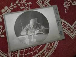 ..a Császár /is/ dolgozik..Ferenc József, Franz Josef az írósztalánál,  Arthur Floeck kabinet foto