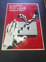 Nagyméretű retro plakát munkavédelmi
