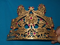 14 karátos arany korona/diadém/tiara rubin kövekkel