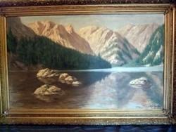 Szepesi Kuszka Jenő hatalmas olaj festmény