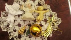 Régi karácsonyi díszek angyal