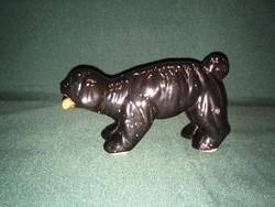 Art deco Drasche Fayence kerámia kutya figura