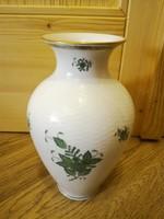 Herendi zöld Apponyi mintás porcelán váza