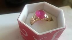 5ct rubinnal 14 kr.arany gyűrű Papírral!