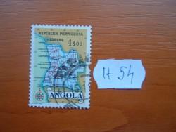 ANGOLA 4 $ 00 1955 ANGOLA TÉRKÉPE  H54