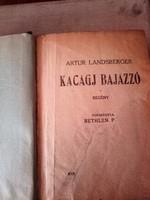1920.kiadású  Artur Landsberger   Kacagj  Bajazzó -  Antik könyv