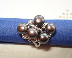 Design gyűrű tahiti gyöngyökkel
