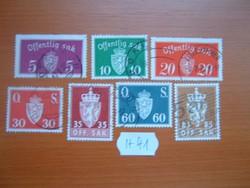 NORVÉGIA 5-80 ŐRE CÍMER 7 DB VEGYES  H41