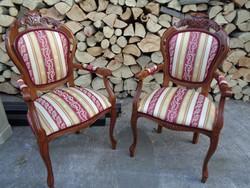 Barokk fotel párban