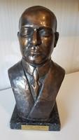André Citroen bronz büszt (mellszobor) nagy méretű