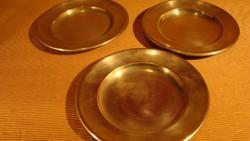 Régi alpakka tányér 3db