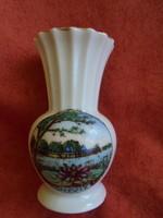 Drasche porcelán Hévíz emlék váza