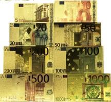 ARANY EURO 5-10-20-50-100-200-500-1000 SOROZAT 8 DARAB EGYBEN