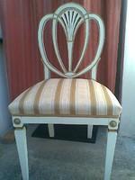 Aranyozott-fehér Hepplewhite-szék