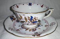 Herendi porcelán kávés csésze alátéttel 735/MHG (Motivs Hongrois Grand)