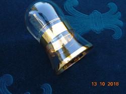 Vastag aranycsíkos kis pohár vagy váza-jelzett