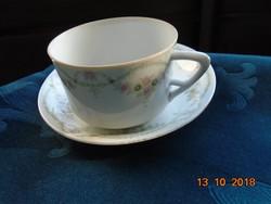 1899 Eichwald kézzel számozott szecessziós girlandos teás csésze alátéttel