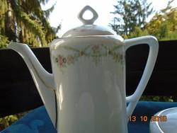 1899 Eichwald kézzel számozott szecessziós girlandos tea kiöntő